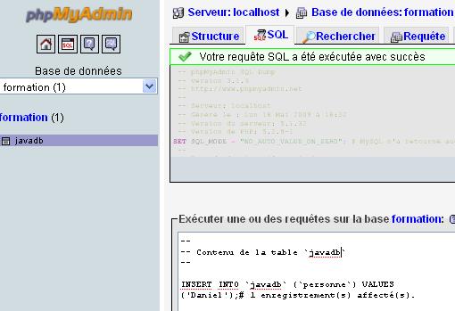 exemples jtable bases données netbeans