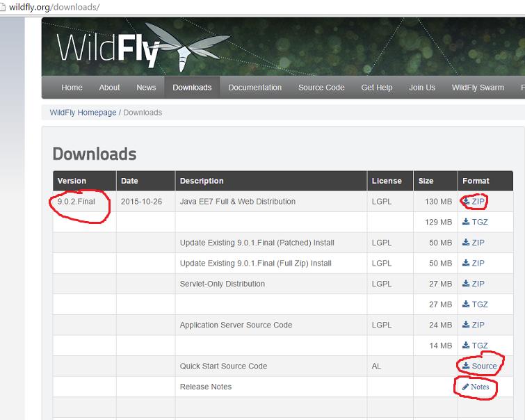 Tutoriel Wildfly 9 : installation , démarrage, arrêt wildfly