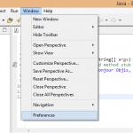 Eclipse-window-preference